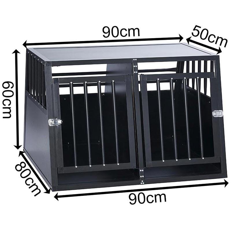 SafeCrate Double Medium --> Inkl. Skiljevägg <-- | 3:e Generation Hundbur