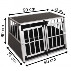 SafeCrate Double Medium Premium - 2:a Generation Hundbur MED Skiljeväg